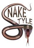 Snake style Stock Photography