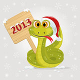 Snake symbol of 2013 year Royalty Free Stock Photo