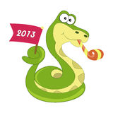 Snake symbol of 2013 year Royalty Free Stock Images