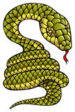 Snake, symbol of coming year. Snake, one of the twelve animals according to the Chinese horoscope, symbol of coming year, vector illustration Stock Image
