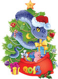 Snake - The symbol of  New Year 2013. Royalty Free Stock Images