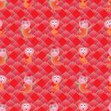 Snake symmetry style seamless pattern Royalty Free Stock Image