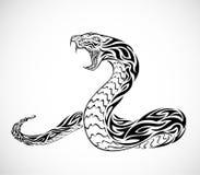 Snake Tattoo. Illustration of a tribal snake tattoo Stock Photo