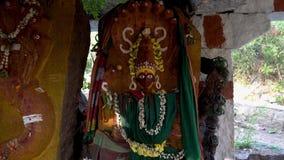 Snake temple in india outdoors. Hampi Karnataka India march 10 2019: Temple Naga stock video footage