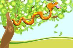 Snake on tree Royalty Free Stock Photos