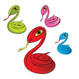 Snake vector illustration Royalty Free Stock Photography