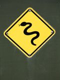 Snake Warnign Sign Stock Image