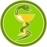 Snake wine cup medicine symbol Stock Photography