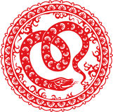Snake year 2013. Chinese zodiac symbol Stock Illustration
