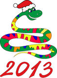 Snake year. 2013. Chinese zodiac symbol Royalty Free Stock Photography