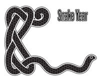 Snake year Royalty Free Stock Image
