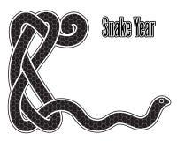 Snake year Royalty Free Stock Image