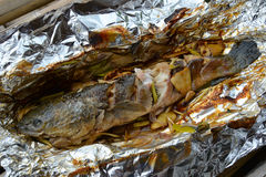 Snakehead fish cook Royalty Free Stock Photography