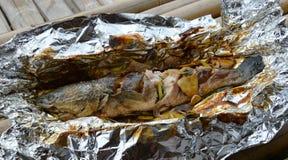 Snakehead fish cook Stock Photos