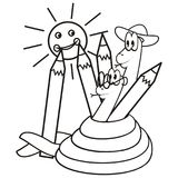 Snakes and crayons Stock Image