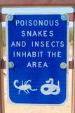 Snakes and Insects sign Stock Photography