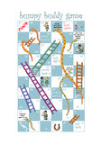 Snakes & Ladders game for hospitals Royalty Free Stock Images
