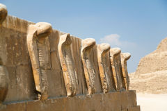 Snakes sculpture in Djoser Pyramid Royalty Free Stock Photography