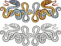 Snakes tattoo design Stock Photography