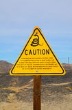 Snakes Warning Sign Royalty Free Stock Photography