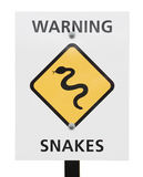 Snakes warning sign Stock Images