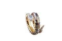 Snakeshaped Diamond ring Royalty Free Stock Photography
