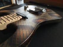 Snakeskin-Gitarre stockfoto