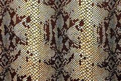Snakeskin modellato tessuto Fotografia Stock