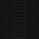 Snakeskin pattern black Stock Photos