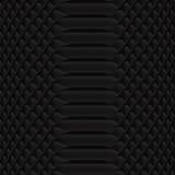Snakeskin pattern black. Black Snake skin pattern close up Stock Photos