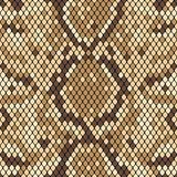 Snakeskin seamless pattern. Realistic texture of snake or another reptile skin. Beige and brown colors. Vector. Illustartion royalty free illustration