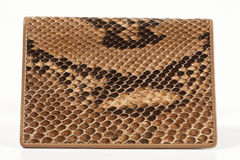 Snakeskin wallet Royalty Free Stock Image