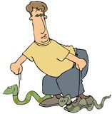 snakewalker 库存例证