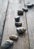 Snaking line of  stones Royalty Free Stock Image