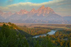 Snakr river at Grand Teton Stock Images