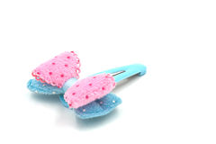 Snap Barrette Hair Clips on white background. Stock Images