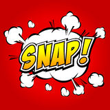 Snap! Comic Speech Bubble, Cartoon. Stock Photo