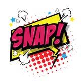 Snap! Comic Speech Bubble. Vector Eps 10. Royalty Free Stock Image