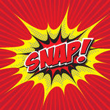 SNAP! comic word Stock Photography