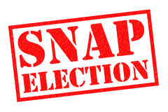 SNAP ELECTION Royalty Free Stock Photo