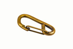 Snap ring 02. Brass snap ring on isolate background Stock Photos