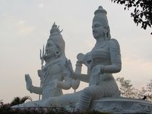 Side view of lord shiva with parvati looking awesome at evening at Indian park. This snap is taken from kailashgiri, a indian park looking awesome Royalty Free Stock Photos