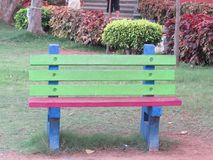 Close view of Concrete chair for seating tourist looking good. This snap is taken from kailashgiri park, a indian park looking awesome of flower garden Royalty Free Stock Images