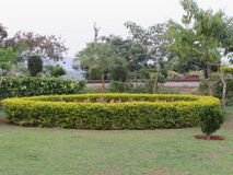 Garden view from indian garden that is looking awesome. This snap is taken from kailashgiri park, a indian park looking awesome of flower garden Royalty Free Stock Image