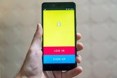 Snapchat Fotografie Stock