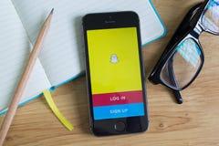 Snapchat Стоковое фото RF