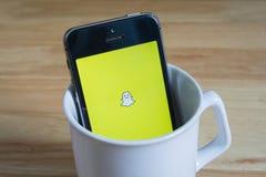 Snapchat Стоковое Изображение RF