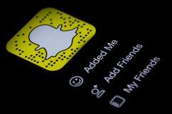 Snapchat app Zdjęcie Stock