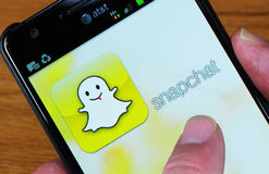 Snapchat Homepage Arkivbild