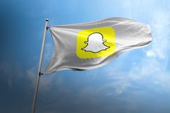 Snapchat photorealistic flag editorial stock photo